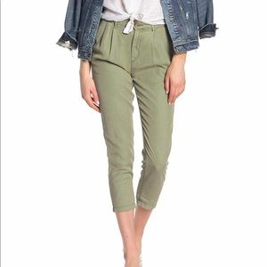 AG the Evan relaxed pleated trouser, green pants